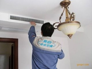 林内嵌入式分体式空调,排水故障的检修